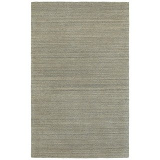 Style Haven Solid Distressed Grey Wool Handcrafted Area Rug (8' X 10')