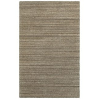 Style Haven Solid Distressed Brown/Brown Wool Handcrafted Area Rug (8' X 10')