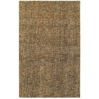 Style Haven Areia Boucle Brown/Beige Wool Handcrafted Area Rug - 8' x 10'