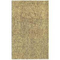 Rustic Shades Grey/Gold Wool Handcrafted Boucle Area Rug - 8' x 10'