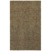 Style Haven Brown Industrial Patina Boucle Handmade Wool Area Rug - 8' x 10'