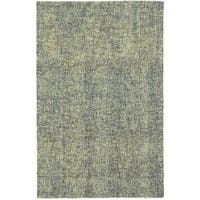 Azure Boucle Blue/Green Handcrafted Wool Area Rug - 8' x 10'