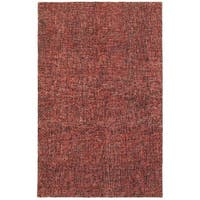 Style Haven Warm Spice Boucle Red/Rust Wool Handcrafted Area Rug - 8' x 10'