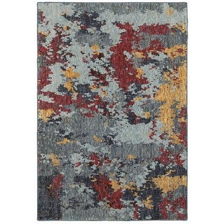 Style Haven Patina Stone Blue/Red Area Rug (8'6 x 11'7)