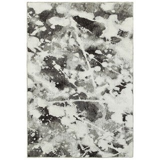 Style Haven Abstract Shadows Charcoal/White Area Rug (8'6 x 11'7)