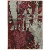 Style Haven Bordeaux Canvas Red/Beige Area Rug (8'6 x 11'7)