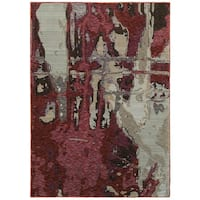 """Style Haven Bordeaux Canvas Red/Beige Area Rug - 7'10"""" x 10'10"""""""