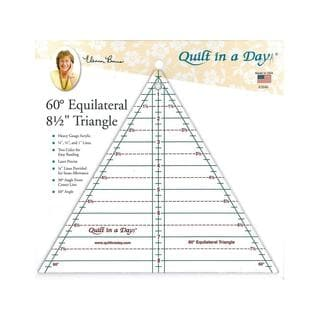 Quilt in A Day Clear Acrylic 8.5-inch 60-degree Ruler