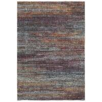 """Style Haven Multicolored Textural Stripes Area Rug (3'3 x 5'2) - 3'3"""" x 5'2"""""""