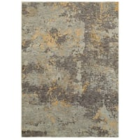 "Style Haven Marbled Stone Grey/Gold Area Rug - 7'10"" x 10'10"""
