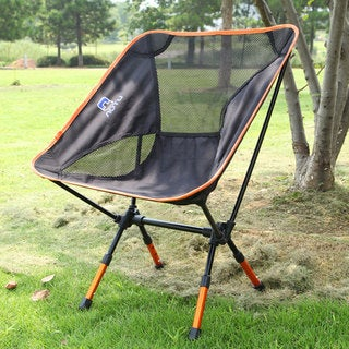 AT6731 Orange and Black Outdoor Fishing/ Camping Portable Folding Chair