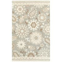 The Gray Barn Hoggett Grey/ Sand Wool Handcrafted Undyed Area Rug - 8' x 10'