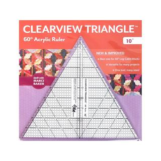 C&T Publishing Clearview Triangle Acrylic 10-inch 60-degree Ruler