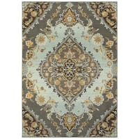 Style Haven Imperial Luxe Grey/Blue Area Rug - 7'10 x 11'