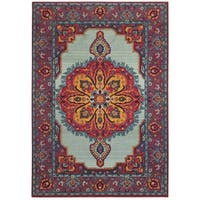 The Curated Nomad Portia Boho Chic Medallion Area Rug - 7'10 x 11'