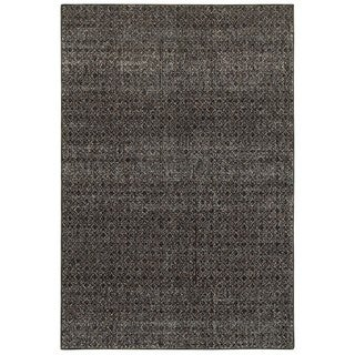Style Haven Textural Diamonds Black and Grey Area Rug (8'6x11'7)