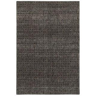 Textural Diamonds Black/Grey Area Rug (7'10 x 10'10)