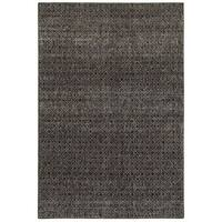 Carson Carrington Majorna Textural Diamonds Black/Grey Area Rug - 7'10 x 10'10