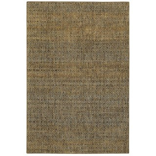 Style Haven Textural Diamonds Green/Gold Area Rug (7'10 x 10'10)