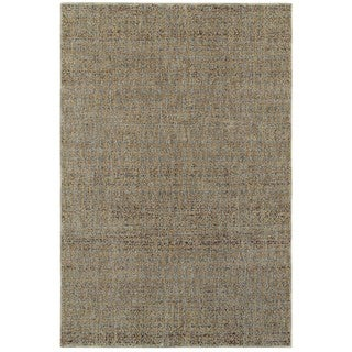 Style Haven Textural Diamonds Blue/Gold Area Rug (8'6 x 11'7)