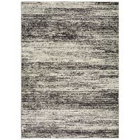 Carbon Loft Marcus Textural Stripes Ash and Charcoal Area Rug - 8'6 x 11'7