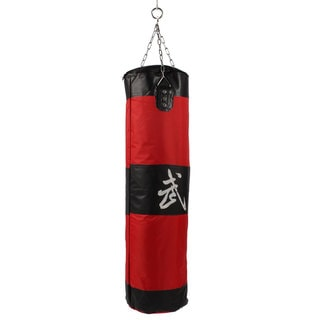 Zooboo Boxing Striking Drop Hollow Canvas Sand Bag Red Black