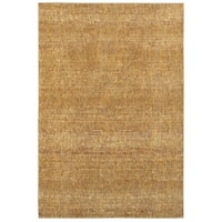 Carson Carrington Rauma Tonal Textures Gold/ Yellow Area Rug - 8'6 x 11'7