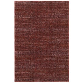 Style Haven Tonal Textures Red/Rust Area Rug (7'10 x 10'10)