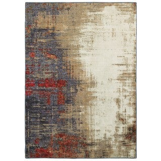 Style Haven Pintura Layers Ivory and Multicolored Area Rug (3'3 X 5'2)