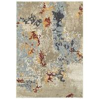 "Carbon Loft Bartik Abstract Beige/ Blue Area Rug - 3'3"" x 5'2"""