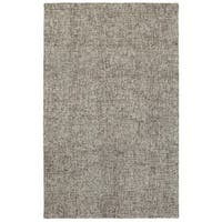 """Style Haven Acciaio Boucle Grey Wool Handcrafted Area Rug (3'6 x 5'6) - 3'6"""" x 5'6"""""""