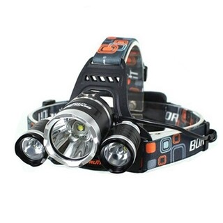 White Light LED 3-mode Black Aluminum Adjustable Headlamp