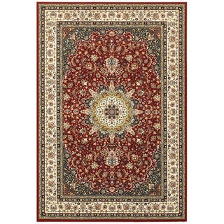 "Gracewood Hollow Stora Medallion Red/Ivory Area Rug - 3'10"" x 5'5"""