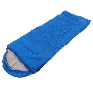 Auto AT6118 Outdoor Envelope Style Sleeping Bag with Hood Blue