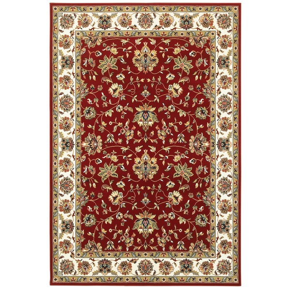 "Gracewood Hollow Claude Red/Ivory Area Rug - 3'10"" x 5'5"""