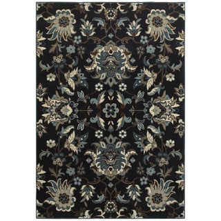 "Style Haven Arcadian Flowers Navy/Blue Area Rug (3'10 x 5'5) - 3'10"" x 5'5"""