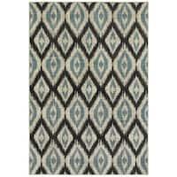 "Style Haven Azul Vue Blue/Grey Area Rug (3'10 x 5'5) - 3'10"" x 5'5"""