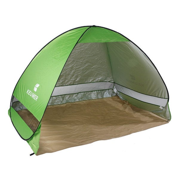 GJ027 Outdoor UV-proof 2-Person Fishing Auto Tent Shelter Beach Shade Green