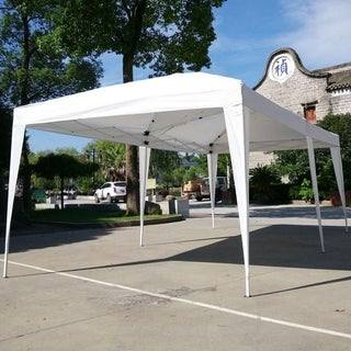 19.6-foot White Outdoor Camping Waterproof Folding Tent