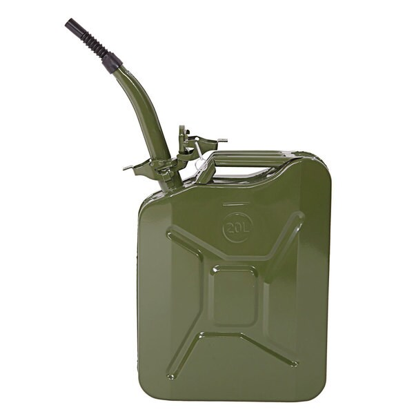 20-liter Army Green Portable Fuel Can