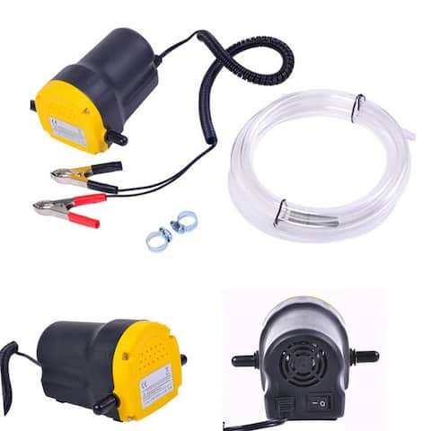 Home Use Mini Type Electric Oil Liquid Transfer Pump Black and Yellow