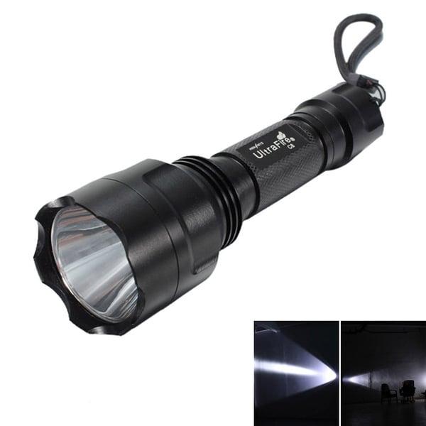 White Light 5-Mode Flashlight Black