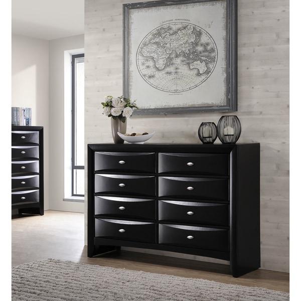 Shop Blemerey Fully Assembled Black Finish Wood Dresser