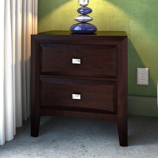 Botanical Heights Thurman Cappuccino Wood 2-drawer Nightstand