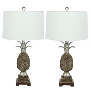 Urban Designs Pineapple 28-inch Polystone Table Lamp (Set of 2)