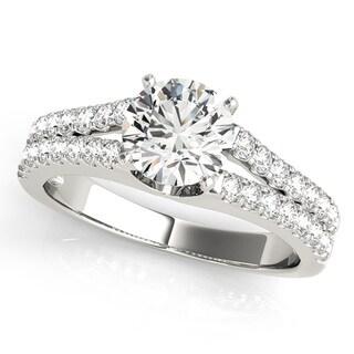 Transcendent Brilliance 14k Gold 1 1/4 TDW Diamond Eternal Split Shank Engagement Ring