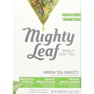 Mighty Leaf Whole Leaf Green Variety Tea Bags (Pack of 15)