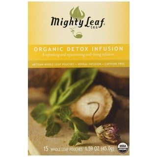 Mighty Leaf Organic Detox Infusion Herbal Tea Bags (Pack of 15)