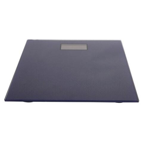 Navy Glass 4-Digit LCD Bathroom Scale
