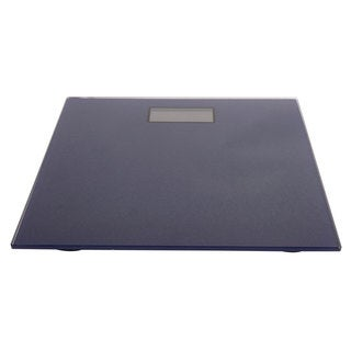 Navy Glass 4-Digit LCD Bathroom Scale
